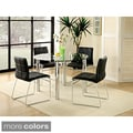 Furniture of America Donnabella 5-piece Chrome-plated Steel Dining Set