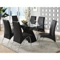 Chambers 7-piece Contemporary Glass Top Dining Set