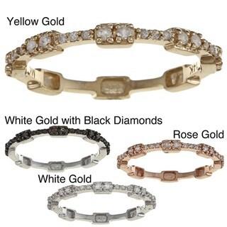 14k Gold 1/6ct TDW Diamond Stackable Ring (H-I, I2-I3)