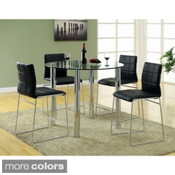 Donnabella 5-piece High-gloss Counter Height Dining Set