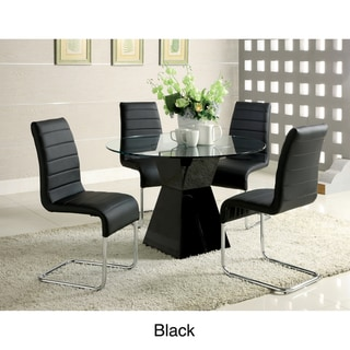 'Athena' 5-piece High-Gloss Dining Set