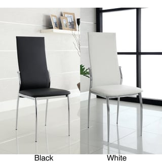 Duarte Modern Leatherette Dining Chairs (Set of 2)