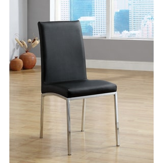 Furniture of America Gisell Modern Leatherette Dining Chairs (Set of 6)