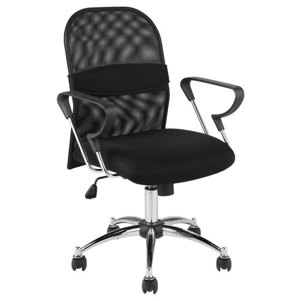 Marlin Mesh Back Black/ Chrome Office Chair
