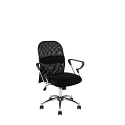 Marlin Mesh Back Black/ Chrome Office Chair