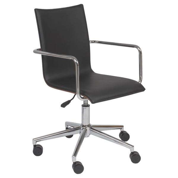Madge Black/ Walnut/ Chrome Office Chair