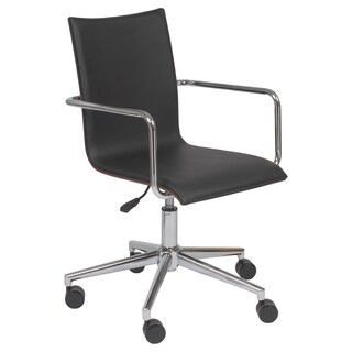 Madge Black/ Walnut/ Chrome Office Chair