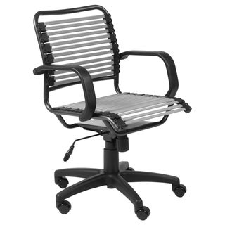 Bungie Flat Mid Back Silver/ Graphite Black Office Chair