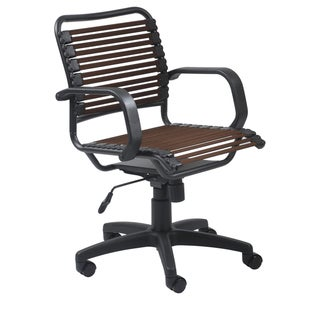 Bungie Flat Mid Back Brown/ Graphite Black Office Chair