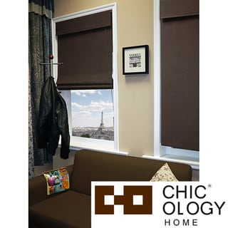 Chicology Nevada Oolong Roman Shade (48' x 72')