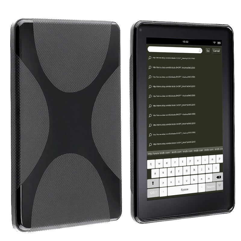 Black X-Line TPU Rubber Skin Case for Amazon Kindle Fire