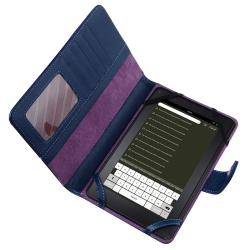 Blue Leather Case for Amazon Kindle Fire