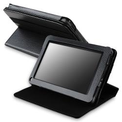 Black 360-degree Swivel Leather Case for Amazon Kindle Fire