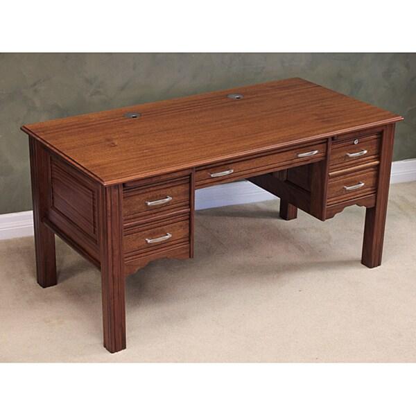 Wood Revival Desk Co. Mahogany Writing Desk