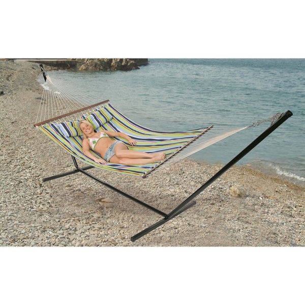 'Antigua' Double Cotton Hammock and Stand