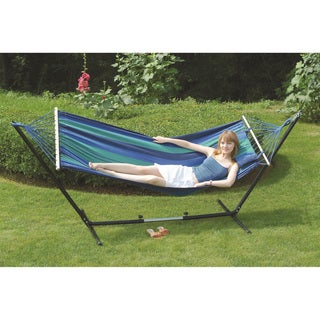 'Cayman' Double Fabric Hammock/Stand Combo