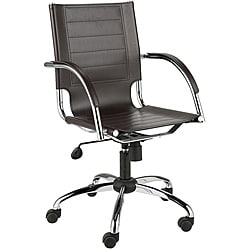 Dave Brown Leather Office Chair