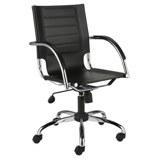 Dave Black Leather Office Chair
