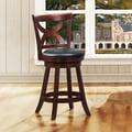 ETHAN HOME Crosby Cherry X-back 24-inch Swivel Counter Stool