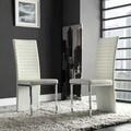 INSPIRE Q Reynold White Metal Sleek Modern Contoured Dining Chair (Set of 4)