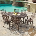 Christopher Knight Home Haitian Cast Aluminum Outdoor Dining Set (Set of 7)