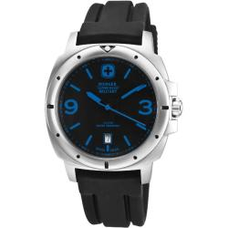 Wenger Men's Expedition Black Dial Blue Accent Watch