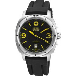 Wenger Men's Expedition Black Dial Yellow Accent Watch