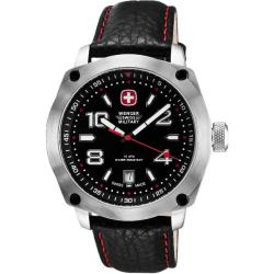 Wenger Men's Outback Black Dial Red Accents Watch