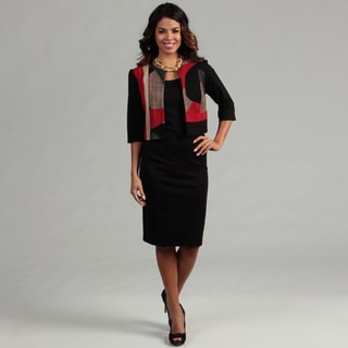 Danny & Nicole Women's Red/ Black 2-piece Dress