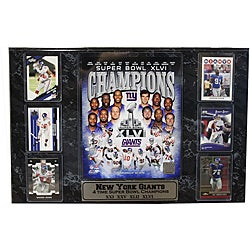 Super Bowl XLVI Champion New York Giants Six-card Plaque