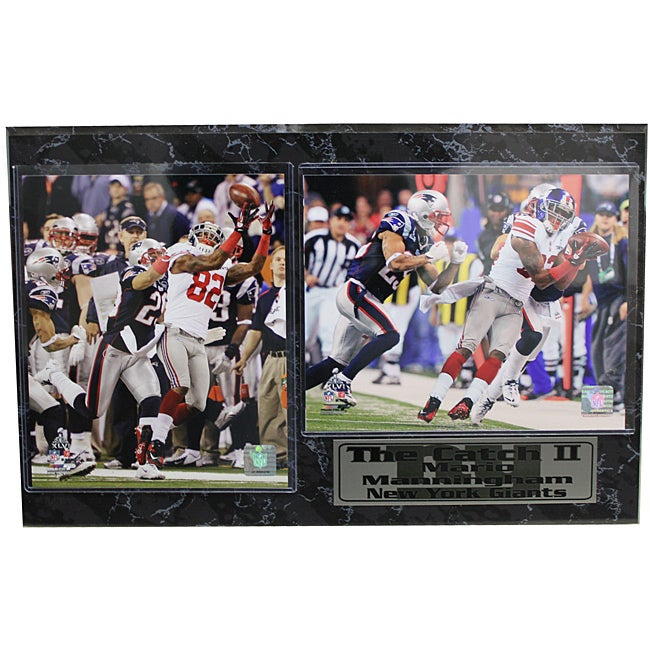 Super Bowl XLVI 'The Catch 2' Mario Manningham Stat Photo Plaque