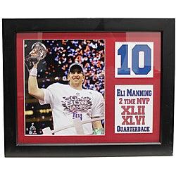Super Bowl XLVI New York Giants MVP Eli Manning Deluxe Framed Stat Photo