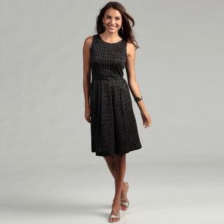 Gabby Skye Women's Black/ Silver Glitter Dress