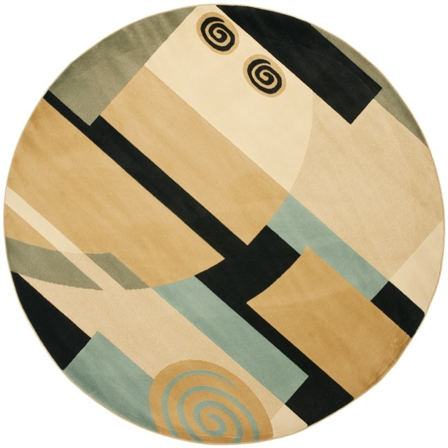 Safavieh Porcello Deco Blue/ Multi Rug (7' Round)