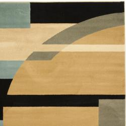 Porcello Deco Blue/ Multi Rug (7' Square)