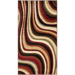 Porcello Waves Blue/ Multi Rug (2' x 3'7)