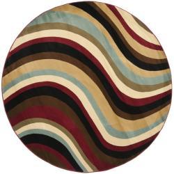 Safavieh Porcello Waves Blue/ Multi Rug (7' Round)