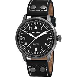 Vernier Women's V11077BK Easy Read Quartz Watch