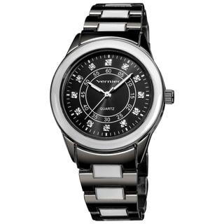 Vernier Women's V11080GN Sunray Dial with Stones Quartz Watch