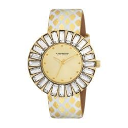 Vernier Woman's V11101YG Baguette Sunray Crystal Watch