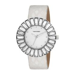 Vernier Woman's V11101SS Baguette Sunray Crystal Watch