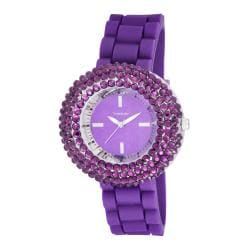 Vernier Woman's V11058PU Crystal Stone Bezel Watch
