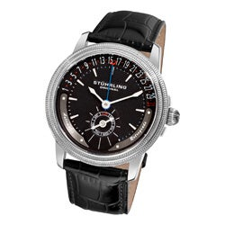 Stuhrling Original Men's Magnate Black-Dial Automatic Watch