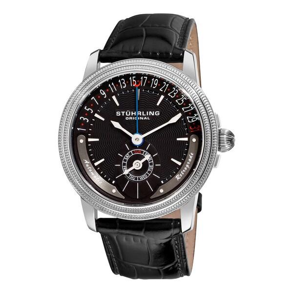 Stuhrling Original Men's Magnate Black-Dial Automatic Watch