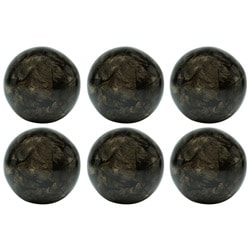 Red Vanilla Nature Sphere Papaya Black Bark 4-inch Ball (Set of 6)