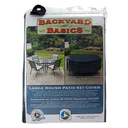 Mr. BBQ Black Round Table and Patio Set Cover | Overstock.com
