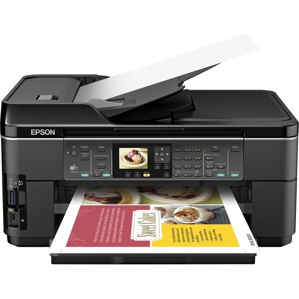 Epson WorkForce WF-7510 Inkjet Multifunction Printer - Color - Plain