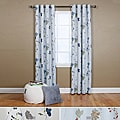 Flower Printed 84-inch Grommet Curtain