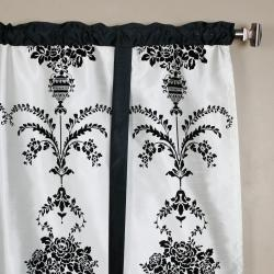 Black Velvet 70-inch Damask Tieup