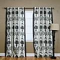 Black Velvet 84-inch Damask Curtain